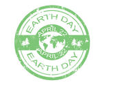 Earth day stamp — Stock Vector