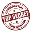 Top secret stamp - Stock Vector