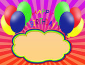 Happy birthday background — Vettoriale Stock