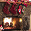 Christmas Fireplace - Photo
