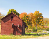 Red Barn in Autumn — Stock Photo