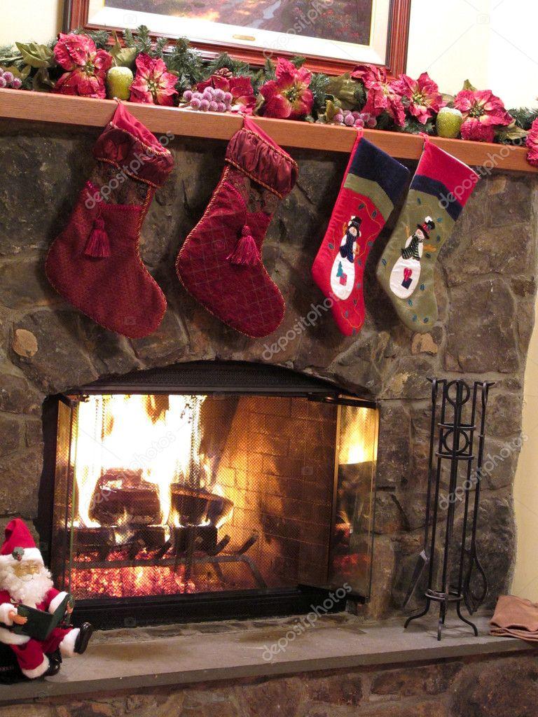 Caminetto di Natale — Foto Stock © jackai #5238003