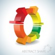 Colorful abstract 3D shape — Stock Vector