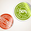Set of labels badges and stickers for sale and best price — Stock Vector