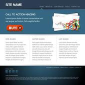 Plantilla de sitio web moderno — Vector de stock