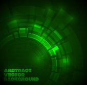 Abstract dark green technical background — Stock Vector