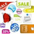 Royalty-Free Stock Vector Image: Set of colorful discount elements