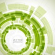 Abstract green technical background - Stock Vector