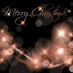 Dark Christmas background card — Stock Vector #5214165