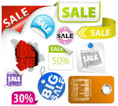 Set of colorful discount elements — Stock Vector