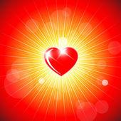 Arka plan ile kırmızı kalp — Stok Vektör