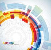 彩虹的颜色与抽象背景 — 图库矢量图片