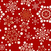 Rot und golden christmas nahtlose muster — Stockvektor