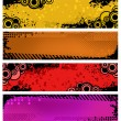 Stock Vector: Set of grunge banners