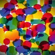 Stock vektor: Abstract background made from speech bubbles