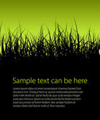 Green vector grass background — Stock Vector
