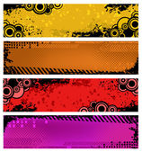 Set of grunge banners — Stock Vector