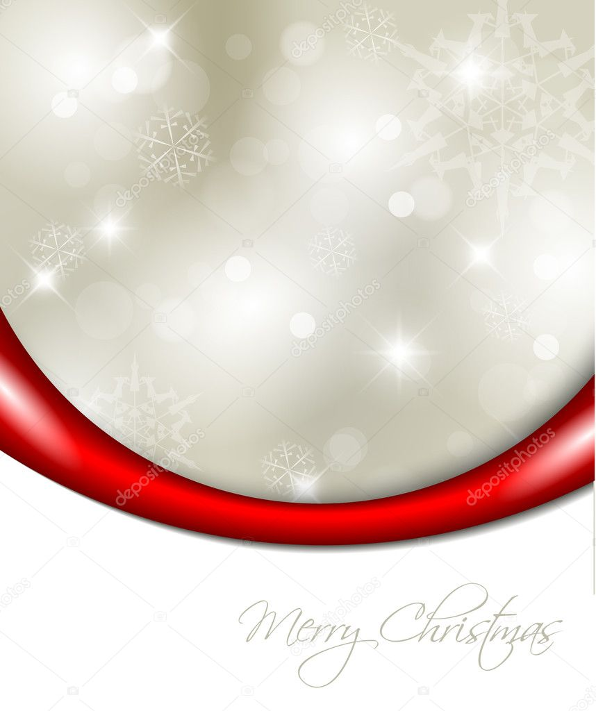 Vector Christmas background with white snowflakes and place for your text  Stock Vector #5239645