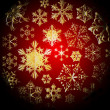 Royalty-Free Stock Vector Image: Winter - dark christmas pattern