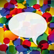 Colorful background made from speech bubbles — Stock vektor