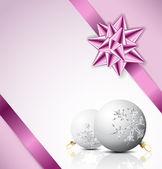 Cartão de Natal roxa — Vetor de Stock