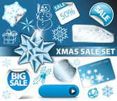 Set of Christmas discount elements — Stock Vector
