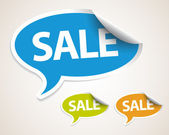Sale speech bubble as sticker — Stock Vector