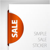 Round Sale Label — Stock Vector