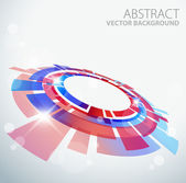 Abstract background with 3D red and blue object — Stock Vector