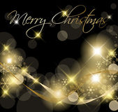 Black and Golden Christmas background — Vector de stock