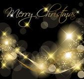 Svart och guld jul bakgrund — Stockvektor
