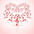 Valentines day music theme — Stock Vector