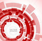 Abstract red technical background — Stock Vector