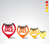 Colorful Round Sale Labels — Vettoriale Stock