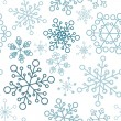 Royalty-Free Stock Vector Image: Christmas seamless pattern with simple snowflakes
