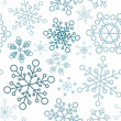 Christmas seamless pattern with simple snowflakes - Stock Vector