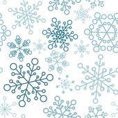 Jul seamless mönster med enkla snöflingor — Stockvektor