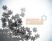 Background made from puzzle pieces — Stock Vector