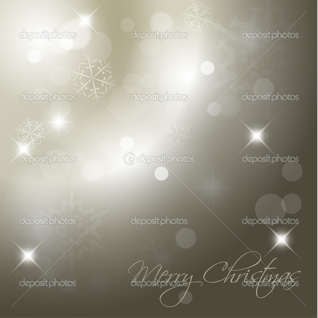 Vector Christmas background with white snowflakes and place for your text — Stock Vector #5305685