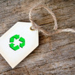Recycle Gift Tag — Stock Photo