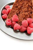 Raspberries and Cake — Stock Photo