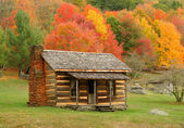 Cabin in Autumn — Stock Photo