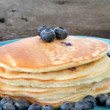 Pancakes and Blueberries — Stockfoto