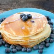 Pancakes and Blueberries — Stock Photo