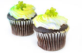St Patricks Day Cupcakes — Stock Photo