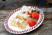 Delicious Strawberry Danish — Stock Photo