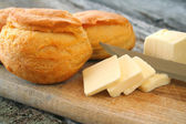 Biscuits and Butter — Stock Photo