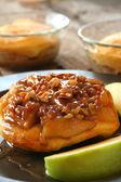 Apple Caramel Dessert — Stock Photo