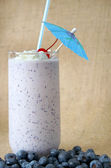 Blueberry Milkshake — Stock Photo