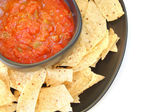 Salsa and Chips — Stock Photo
